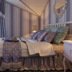 Спално бельо с драперия