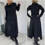 Дълга рокля с качулка и дълъг ръкав