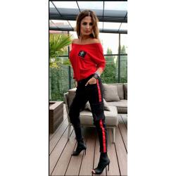 Дамски елегантен комплект Black & Red