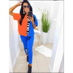 Комплект синьо-оранжево