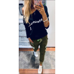 Дамски комплект с блуза и карго панталон