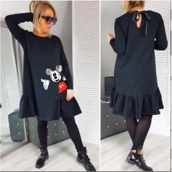Черна рокля с Мики Маус