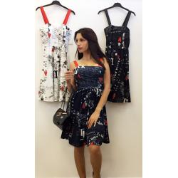 Модерна рокля с принт
