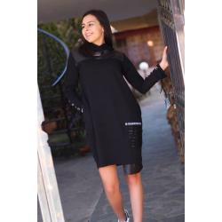 Черна стилна рокля