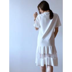Тънка рокля с тюл