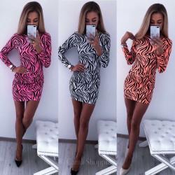 Елегантна рокля мотив зебра