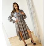 Дълга сатенена рокля