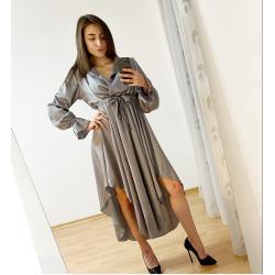 Сатенена рокля тип Low-High