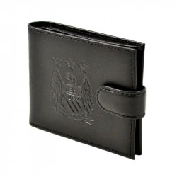 Портфейл MANCHESTER CITY Crest Embossed Leather Wallet