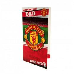 Картичка MANCHESTER UNITED Birthday Card Dad
