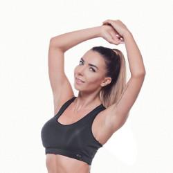 Дамско Бюстие EX FIT Sports Bra Black Basic