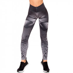 Дамски Клин EX FIT Legging Grey Butterfly
