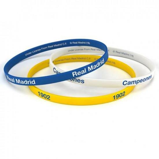 Комплект Силиконови Гривни REAL MADRID 3 Pack Silicone Wristbands