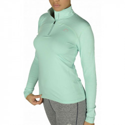 Дамска Блуза MORE MILE Heather Half Zip Ladies Running Top