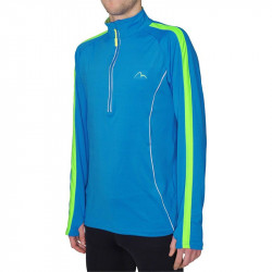 Мъжка Блуза За Бягане MORE MILE Lumino 1/4 Zip Long Sleeve Mens Running Top