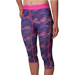 Дамски Клин MORE MILE Go For It Printed Ladies 3/4 Capri Running Tights