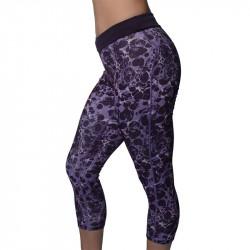 Дамски Клин MORE MILE Printed Ladies Running 3/4 Capri Tights