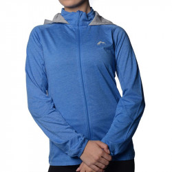 Дамски Суичър MORE MILE Marl Full Zip Ladies Running Hoody