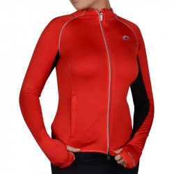 Дамски Суичър MORE MILE More-Tech Thermal Full Zip Ladies Running Top