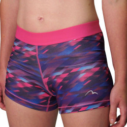Дамски Къси Панталони MORE MILE Go For It Printed Ladies Running Short Tights