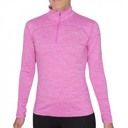 Детски Суичър MORE MILE Heather 1/4 Zip Girls Running Top
