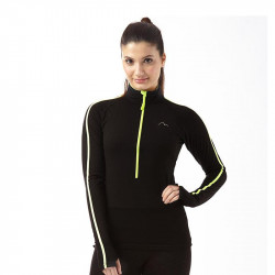 Дамска Блуза MORE MILE Hi Viz Half Zip Ladies Running Top