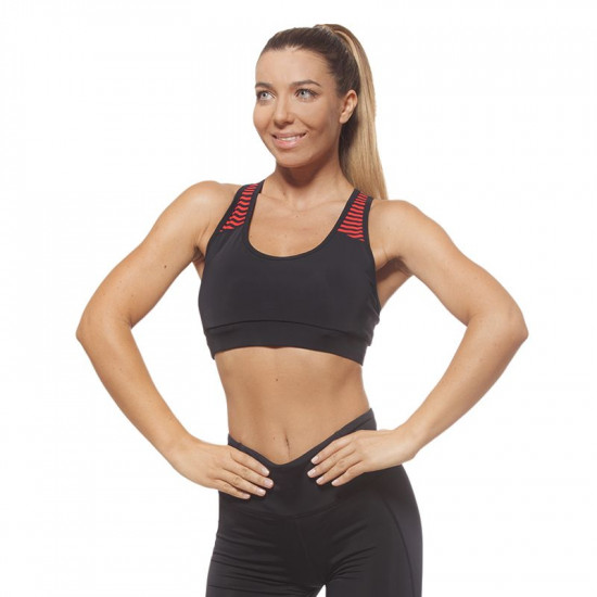 Дамско Бюстие EX FIT Sports Bra Black&Red