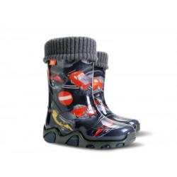 Бебешки гумен ботуш с топъл чорап DEMAR 0432-EE коли