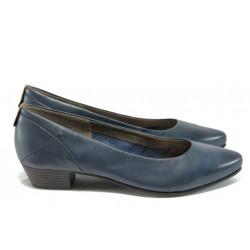Дамски обувки от естествена кожа Jana 8-22200-26 т.син