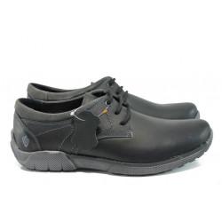 Анатомични български обувки от естествена кожа МЙ 83336 черен | Мъжки ежедневни обувки