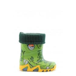 Детски гумени ботуши с топъл свалящ се чорап Demar 0032 крокодил 20/27 | Гумени ботуши