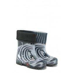 Детски гумени ботуши с топъл свалящ се чорап Demar 0038 зебра 20/27 | Гумени ботуши