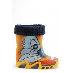 Детски гумени ботуши с топъл свалящ се чорап Demar 0033 заек 28/35 | Гумени ботуши
