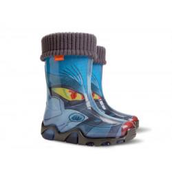 Детски гумени ботуши с топъл свалящ се чорап Demar 0033 трансформърс 28/35 | Гумени ботуши
