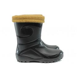 Гумени ботуши с топъл чорап от естествена вълна Demar 0462 черен 36/41 | Гумени ботуши