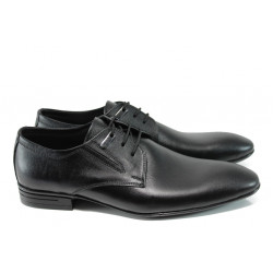 Анатомични мъжки елегантни обувки от естествена кожа ЛД 660 черен | Мъжки официални обувки