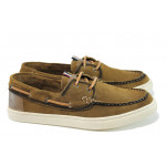 Летни мъжки обувки от естествен набук S.Oliver 5-13608-28 кафяв | Мъжки немски обувки