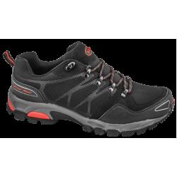 Дишащи мъжки маратонки с класическо ходило ГК 30191-2 черен-червен   Летни мъжки маратонки