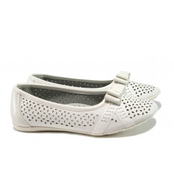 Анатомични детски обувки с перфорация КА Н857 бял 31/36 | Детски обувки
