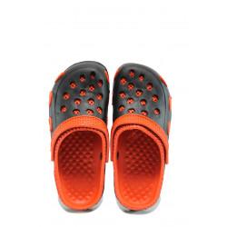 Детски чехли-сандали тип крокс АБ 6779 черен-червен 31/35 | Детски гумени чехли