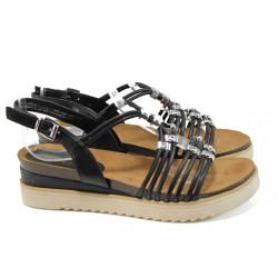 Анатомични дамски сандали Marco Tozzi 2-28505-28 черен | Немски сандали на платформа