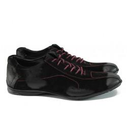 Мъжки спортни обувки от естествен набук ЛД 310 черен | Мъжки ежедневни обувки
