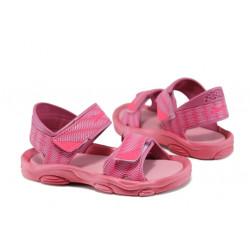 Детски сандали с лепенки Rider 81693 розов 21/29 | Бразилски чехли и сандали