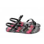 Анатомични детски бразилски сандали Ipanema 81930 черен 31/35 | Бразилски чехли и сандали