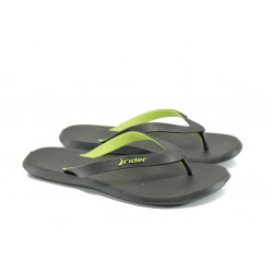 Анатомични мъжки чехли между пръстите Rider 10594 черен-жълт   Бразилски чехли