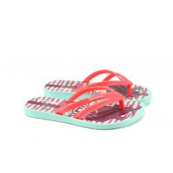 Детски равни чехли Ipanema 82035 зелен-розов 25/34 | Бразилски чехли и сандали