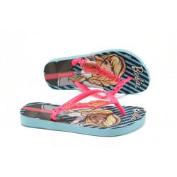 Детски чехли-Барби Ipanema 82111 син-розов 25/34 | Бразилски чехли и сандали