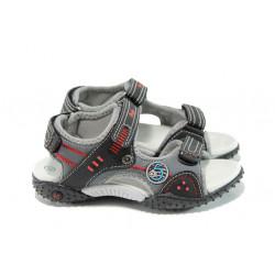 Анатомични детски сандали с лепенка АБ 1614 черен 26/30 | Детски чехли и сандали