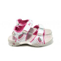 Анатомични детски сандали с лепенка АБ 1617 бял 26/30 | Детски чехли и сандали