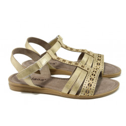 Дамски сандали Jana 8-28114-28H злато | Равни немски сандали